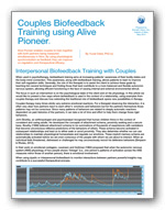Clinical biofeedback paper for couples training