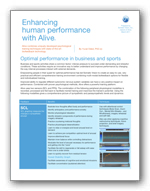 Clinical biofeedback paper for peak performance training